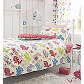 Catherine Lansfield Home Kids Cotton Rich Bunnies Multi Coloured Single Cotton Rich Quilt Set