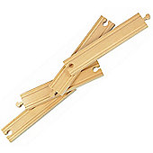 "8"" Straight Track X 4 For Wooden Railway Train Set 50903 - Brio Compatible"