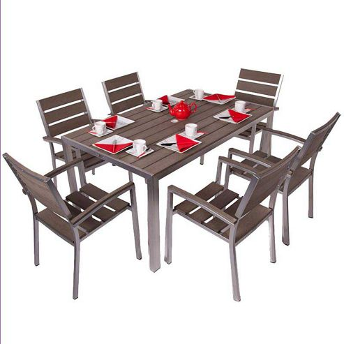Buy BrackenStyle Valencia Rectangular Plaswood Dining Set Seats 6 From Our
