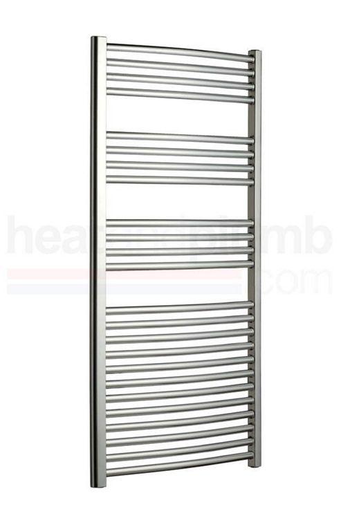 Radox Premier Curved Designer Towel Rail Chrome 800mm High x 500mm Wide