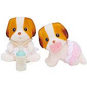 Chiffon Dog Twin Babies - Sylvanian Families Baby Figures 5083