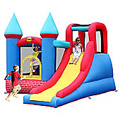 Duplay Red Bricks KidsBouncy Castle with slide 9007