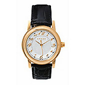 """Cross Chicago Men's Round, Rose-gold/leather watch"""