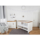 Little House Nursery 2 Piece Furniture Room Set with Sprung Mattress - Littledale Collection
