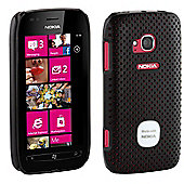 Works with Nokia Licensed Airflow Case Cover for Nokia Lumia 710 - Black