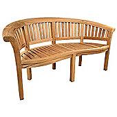 Windsor Curved 3 seat Teak Bench