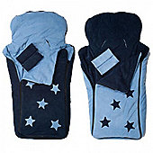 Cozyosko BuggyBag Footmuff (Jacaranda Blue Stars)