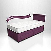 Potter Divan Bed Purple - 2 Side Drawers