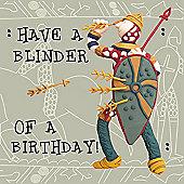 Holy Mackerel Harold blinder of a birthday Greetings Card