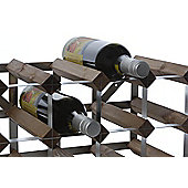 Traditional Winerack Co Self- Assembly Wine Rack - 15 Bottles - Black Ash