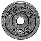 York Fitness Y Cast Plate 2.5kg - Single