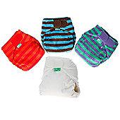 TotsBots Bamboozle Stretch Stripe Nappy 3 Pack (Size 1)