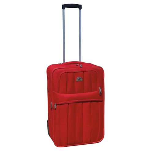 Beverly Hills Polo Club 2-Wheel Suitcase, Red Medium