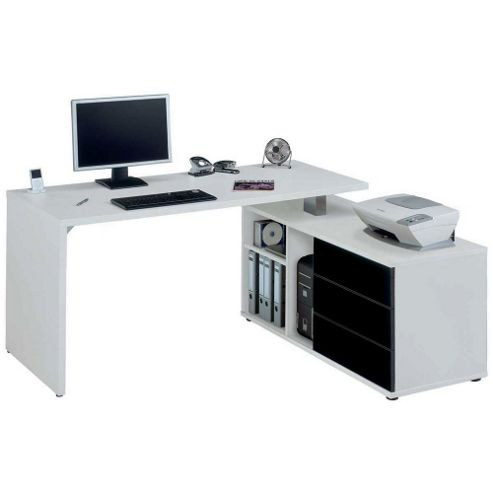 Buy jahnke cpl560 white corner computer desk from our office desks tables range tesco - Tesco office desk ...