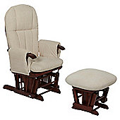 Tutti Bambini Daisy Multi Position Glider Chair & Stool - Walnut