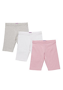 F&F 3 Pack of Cycle Shorts with As New Technology - Multi