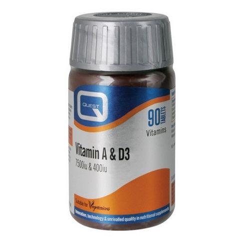 Quest Vitamin A & D3 90 Capsules