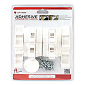 BabySecurity Magnetic Adhesive/Screw Drawer Locks(1 Key - 4 Locks)