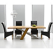 Mark Harris Furniture Montana Solid Oak Dining Table with Barcelona Dining Chairs