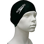 Speedo Junior Flat Silicone Swimming Cap - Black