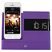 Kitsound X-Dock with FM Radio for iPhone 5/5s/6/6 Plus, Purple