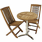 Teak Bistro Set 19 - Outdoor/Garden table and Chair set.