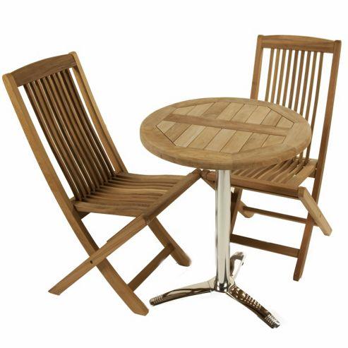 Teak Bistro Set 19 - Outdoor/Garden table and Chair set.