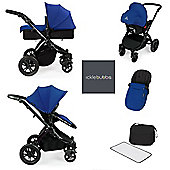 ickle Bubba V2 Stomp AIO Travel System with Mosquito Net - Blue (Black Chassis)