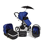 Your Baby Alaska Petrol Blue 3 In 1 Pram/Travel System/Car Seat/Carrycot/Pushchair/Stroller