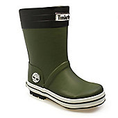 Timberland Toddlers Puddle Stomper Green Wellington Boots - Green