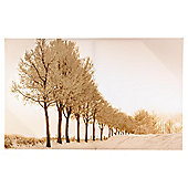 Winter frosted scene glitter 50x80