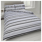 Basic Tonal Stripe Duvet Set - Black