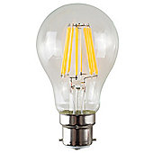 Vintage 6W LED Filament Clear GLS Lightbulb BC B22 - Warm White