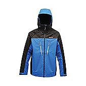 Regatta Mens All peaks Waterproof Jacket - Blue