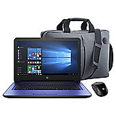 "HP 14-AN008NA, 14"" Laptop with AMD A8-7410, 8GB RAM, 1TB HDD with DVDRW – Blue (Bundle with Sleeve & Mouse)"