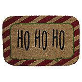 Coir Christmas Door Mat - Ho Ho Ho