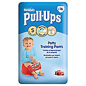 HUGGIES PULL UPS SIZE SMALL BOY CARRY PACK 16