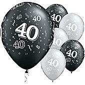 11' 40th Around Black & Silver (25pk)
