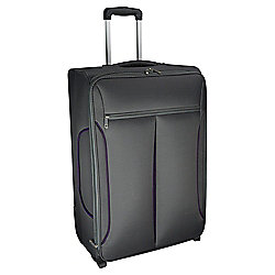 Tesco Lightest Medium Suitcase Grey/Purple