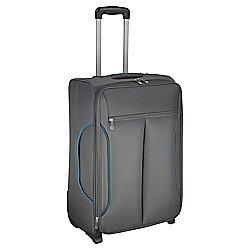 Tesco Lightest Medium Suitcase Grey/ Teal trim