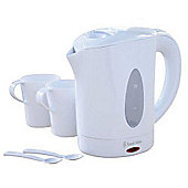 Russell Hobbs 14178 0.85L Travel Jug Kettle + 2 Cups - White