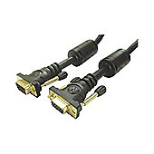 VGA Male To Female Monitor Extension Cable Lead 1.5M
