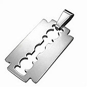 Urban Male Men's Stainless Steel Razor Blade Design Dog Tag
