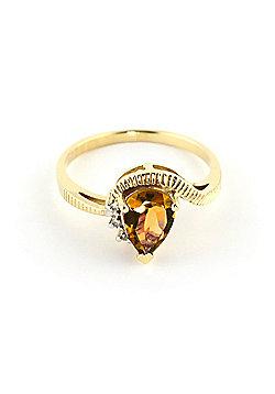 QP Jewellers Diamond & Citrine Belle Diamond Ring in 14K Gold