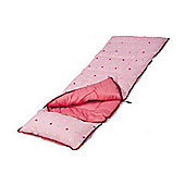 Sunnflair Kids' Sleeping Bag, Dotty Pink