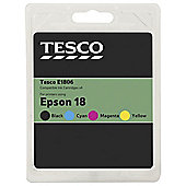 Tesco Epson T1806 Black  printer ink cartridge - Multi-pack