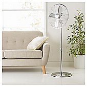 "Tesco PFM1615 16"" Metal Pedestal Fan Chrome"