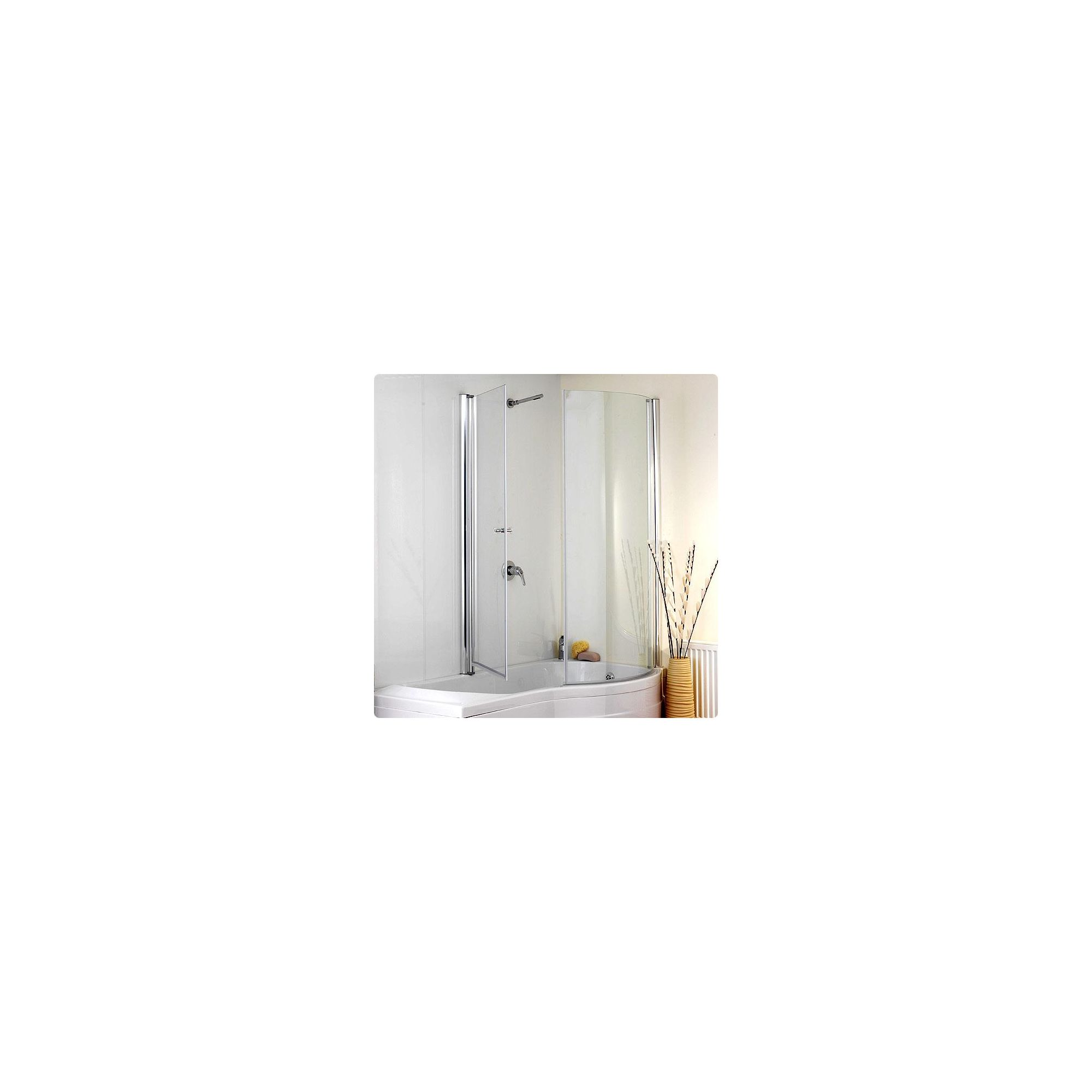 Duchy JESSICA Curved Showerbath Bath Panel withBath Screen RIGHT HANDED at Tesco Direct