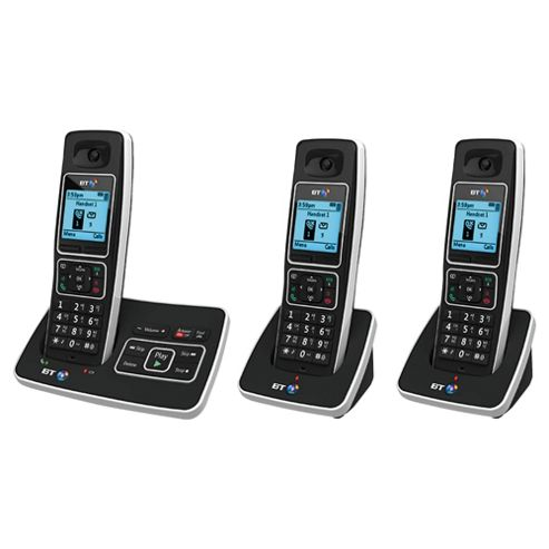 BT 6500 Cordless Triple Phone with Answer Machine/Nuisance Call Blocking - Black