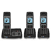 BT 6500 Triple Cordless With Answer Machine Telephone , Black
